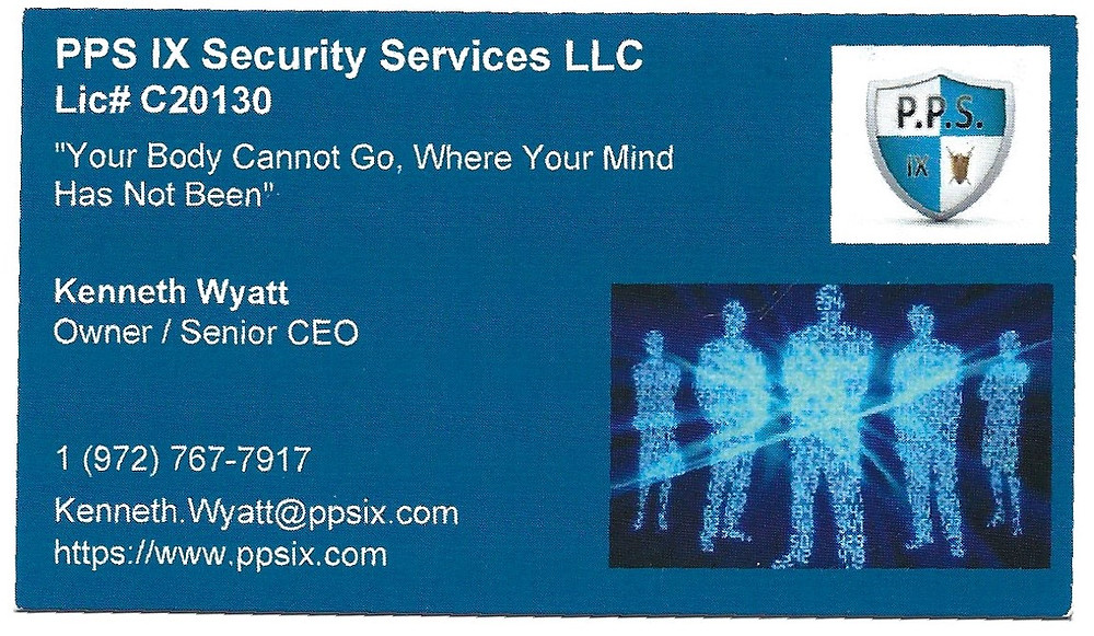 Security Guard Services, Private Investigation, Asset Recovery, Corporate Investigation, Online Investigation, Personal Protection Services (Texas State LIC C20130