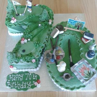 364 Golf & Painting Cake.jpg