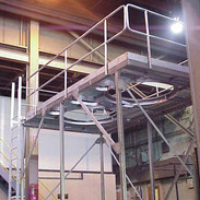 Custom Stainless Steel Sanitary Maintenance Platform