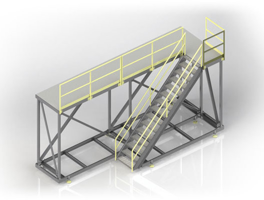 Mobile Steel Access Platform and Stairs