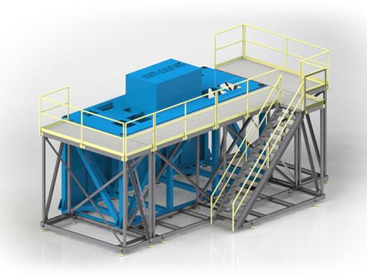 Custom Mobile Steel Access Platform and