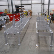Custom Aluminum Generator Maintenance Platform