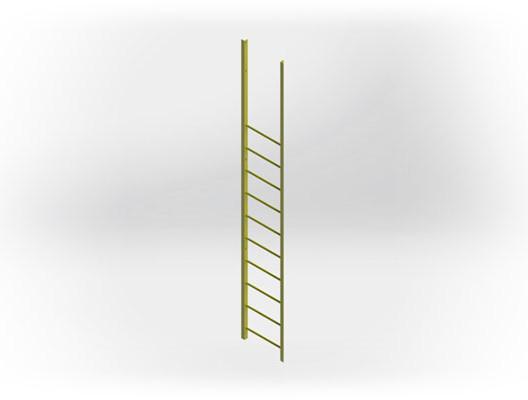 Fixed Industrial Pass Through Ladder