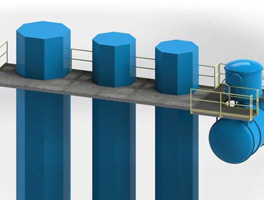 Custom Steel Maintenance Platform