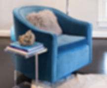 Swivel Velvet Chair