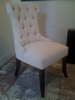 Chair wingback & tufted