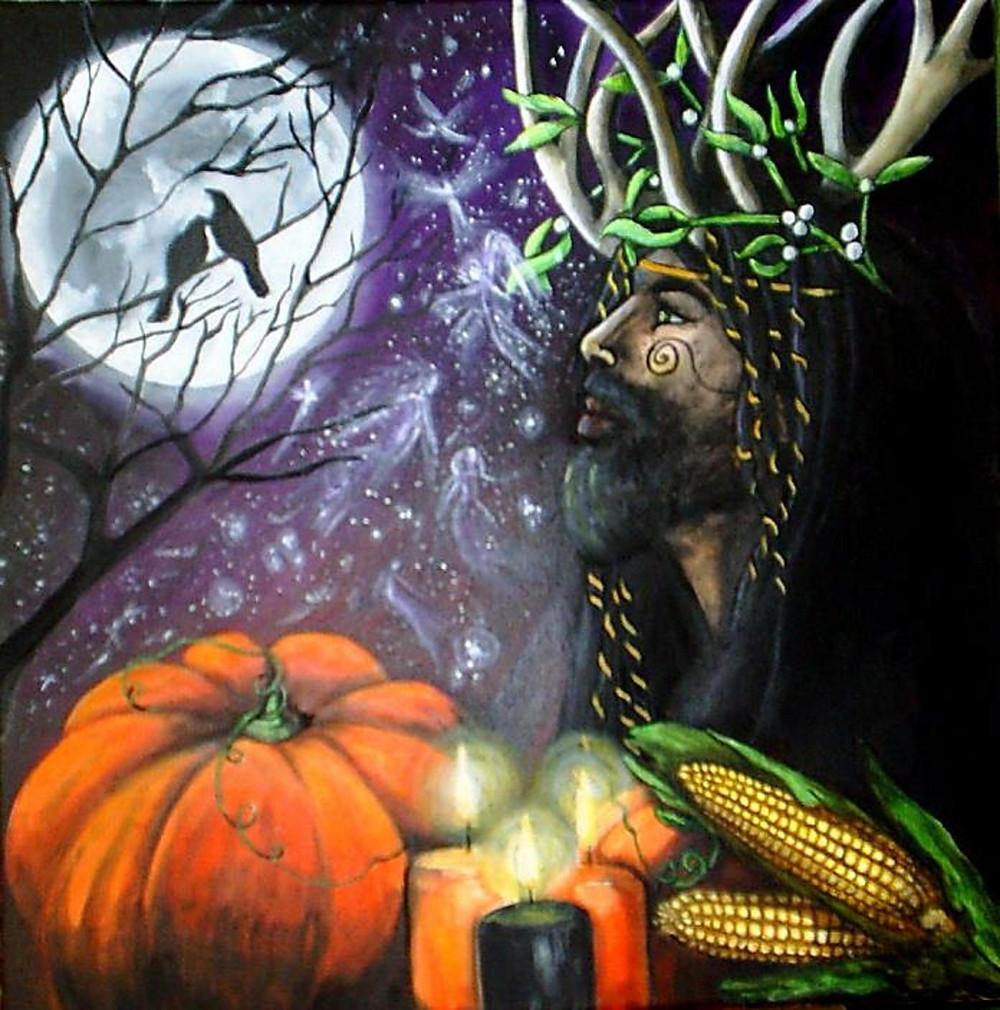 Halloween's Samhaim Celtic origins. groundedpsychic.com