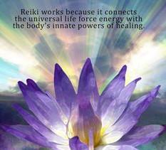 Reiki works with life force energy.