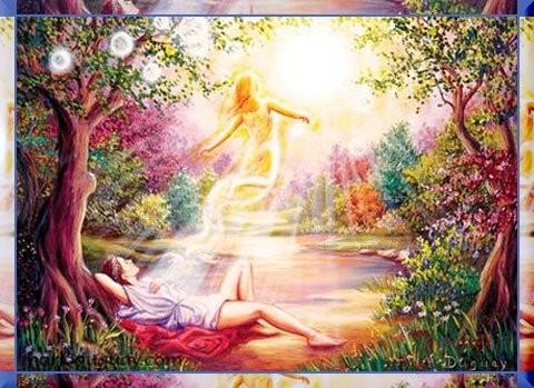 Soul leaveing the body, returning home. groundedpsychic.com Laura Zibalese