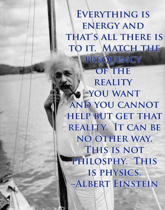 Einstein quote on energy. groundedpsychic.com Laura Zibalese