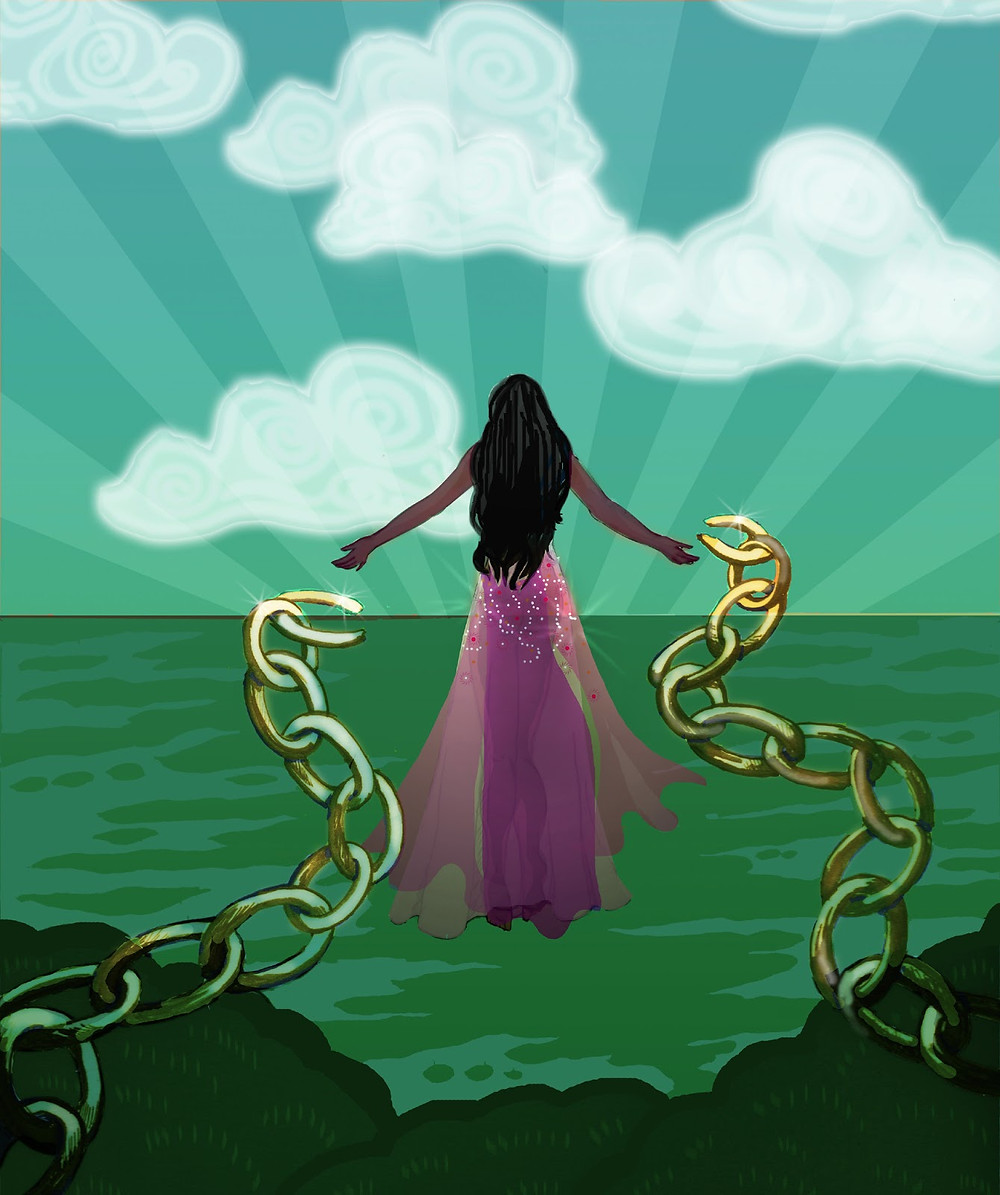 Free from past karma. groundedpsychic.com Laura Zibalese