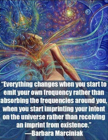 Frequency and intent. groundedpsychic.com