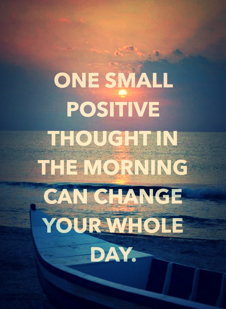 One small positive thought. groundedpsychic.com