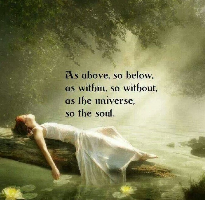 As above, so below. groundedpsychic.com Laura Zibalese