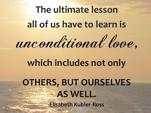 Unconditional love for ourselves. groundedpsychic.com