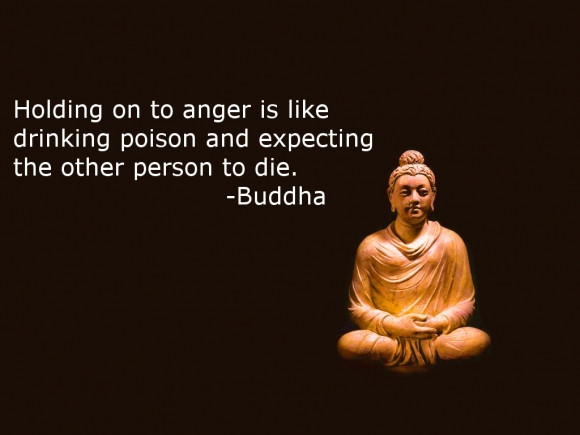 Holding on to anger like drinking poison. groundedpsychic.com Laura Zibalese