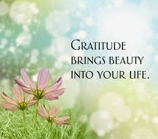 Gratitude brings beauty
