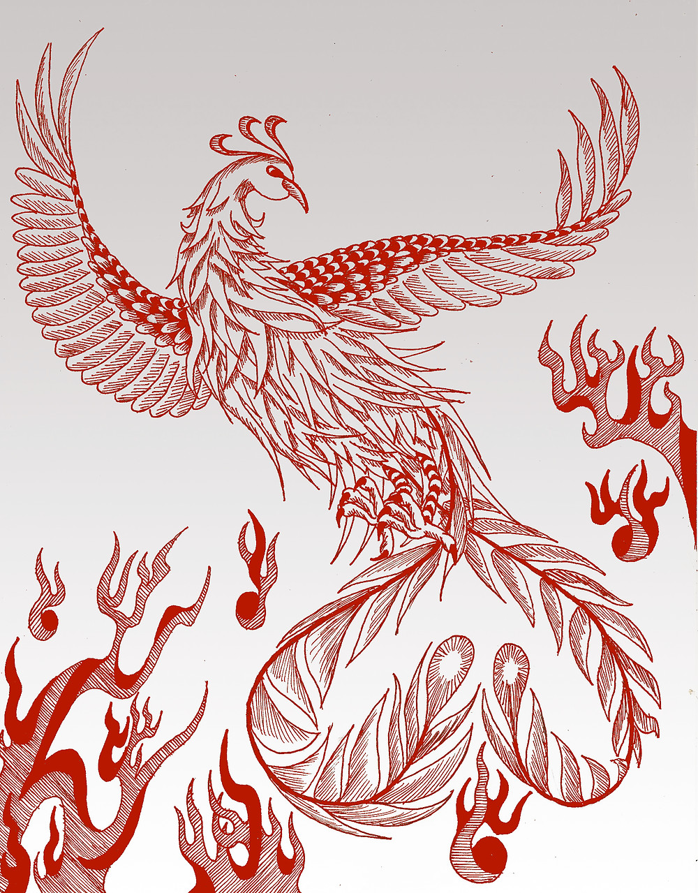 Phoenix bird for luck.