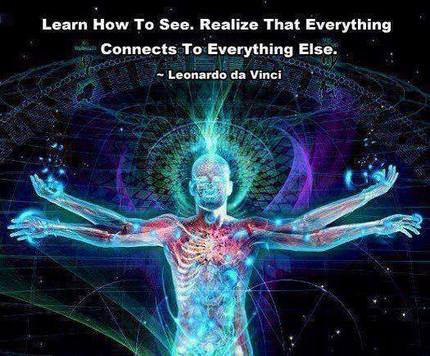 Everything is conneded by energy.