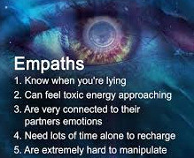 Empaths know when yoiu are lying. groundedpsychic.com