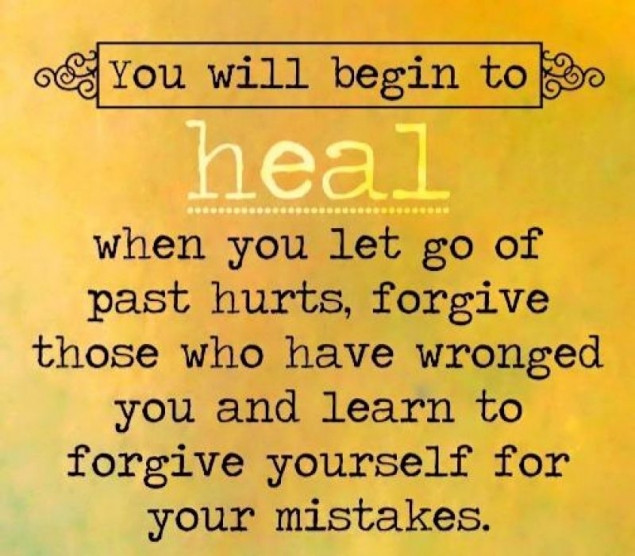 Healing the past by forgiveing. groundedpsychic.com Laura Zibalese