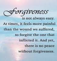 Forgiveness is not always easy. groundedpsychic.com Laura Zibalese