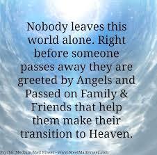 Nobody leaves this world alone. groundedpsychic.com