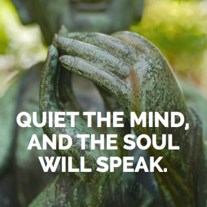 Quiet the mind, and the soul will speak.