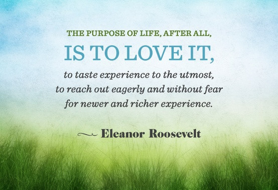 The purpose of life is to love it. groundedpsychic.com