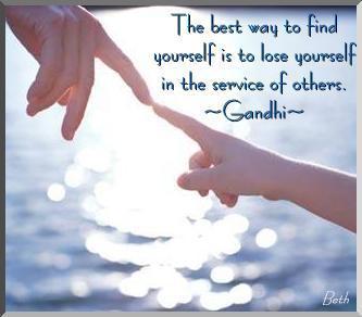 Gandhi quote.