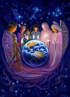 Sprit Guides watch over individuals and the world. groundedpsychic.com