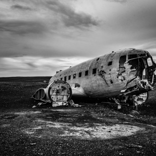 Wreckage in Iceland