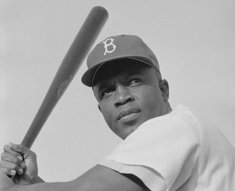 Baseball player Jackie Robinson.