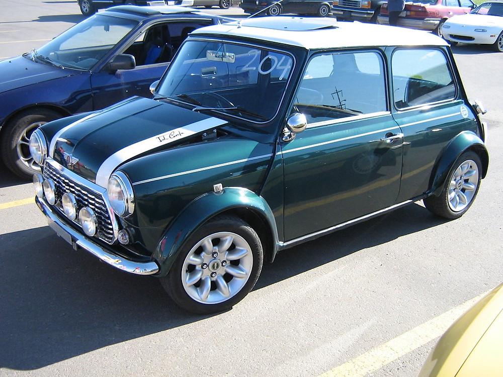 A Mini Cooper.