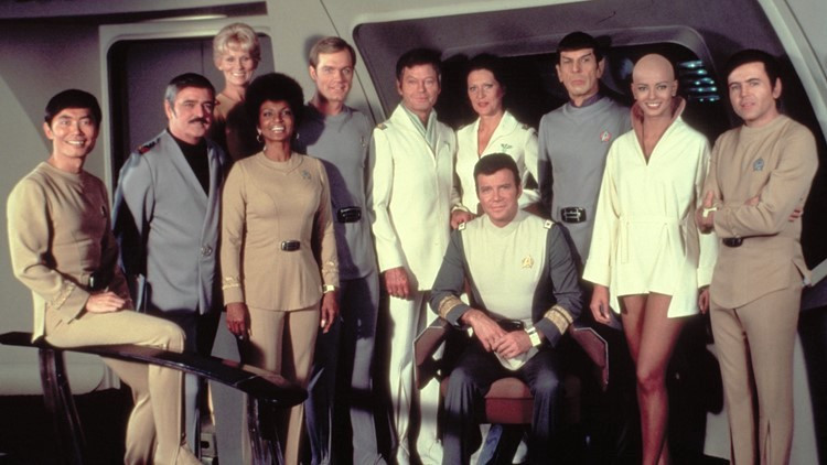 The cast of Star Trek: The Motion Picture.