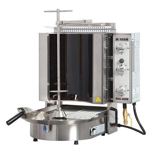 New Inoksan PDG300NR-NAT, 100 Lbs NG Gyro Machine, Bottom Motor, Robax Glass