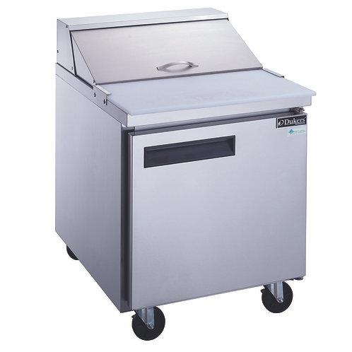 New Dukers DSP29-8-S1 1-Door Food Prep Table Refrigerator in S/S
