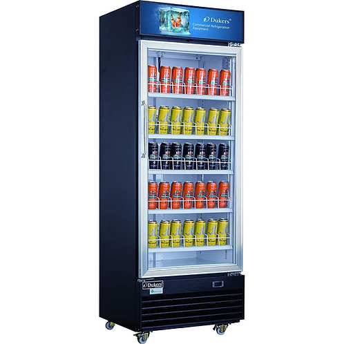 "New Dukers DSM-15R 77"" High One Glass Refrigerator"