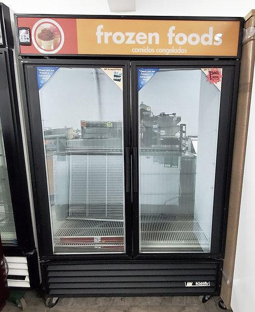 Mint Condition True 2 Door Glass Freezer