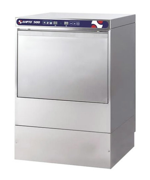 New Ampto 500 High Temp Undercounter Dishwasher With Booster 30 Racks/Hr