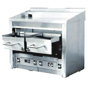 """New Connerton Cooking A-4F - Broiler/Griddle Combo, 47""""W x 25""""D NG"""