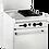 "Thumbnail: New Connerton CN24-2-12G (2) Burner Range Right 12"" Griddle | Standard Oven NG"