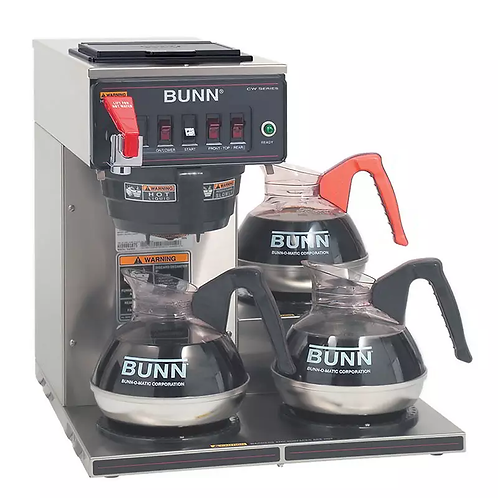 New Bunn CWTF15-3 Medium Volume Decanter Coffee Maker - Automatic, 3 9/10 gal/hr