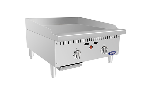 """New CookRite ATTG-24 NAT GAS 24"""" Thermostatically Controlled Flat Griddle"""