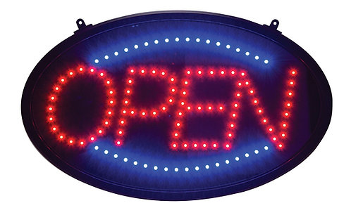 New Open LED Neon Business Motion Light Sign with Chain, S30