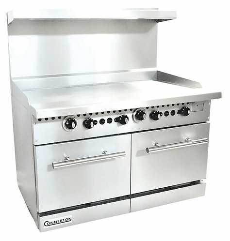 """New Connerton CN48-0-48G (48"""") Flat Griddle With (2) Standard Oven"""