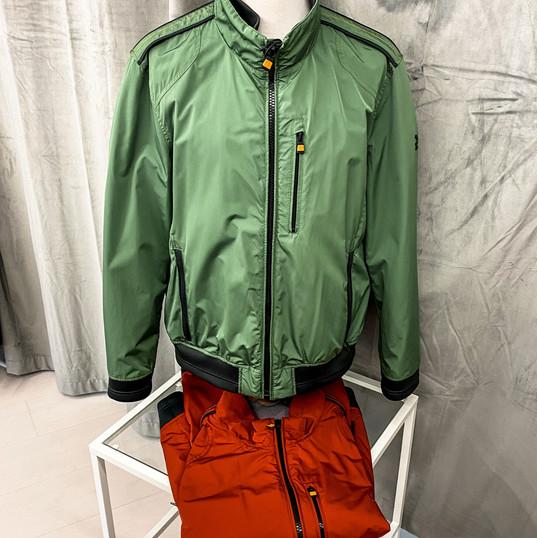 Übergangsjacke, Calamar grün & rot