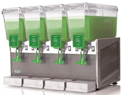 New AMPTO C1456 3 Gallon Four Bowl Cold Beverage Dispenser
