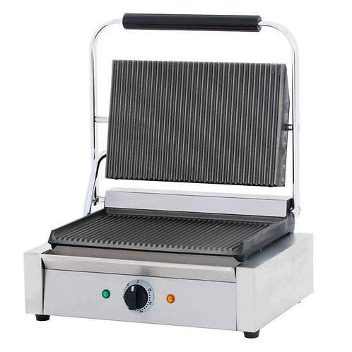 "New Cookline PG-1 Single Panini Sandwich Press (14"" x 10"" Surface) 120V"