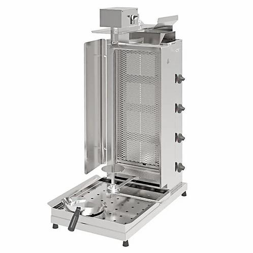 New Inoksan PDG104M Natural Gas Gyro Machine, 4 Double Burner, Top Motor